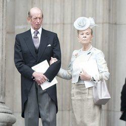 Los Duques de Kent en uno de los actos del Jubileo de Diamante de la Reina Isabel