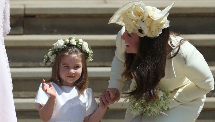 Kate Middleton y la Princesa Carlota en la boda del Príncipe Harry y Meghan Markle