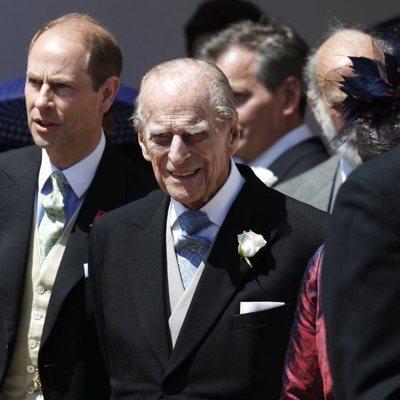 El Duque de Edimburgo a la salida de la boda del Príncipe Harry y Meghan Markle