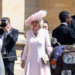 La Duquesa de Cornualles en la boda del Príncipe Harry y Meghan Markle