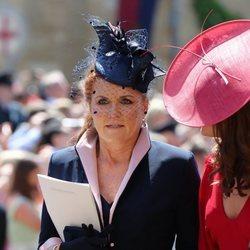Sarah Ferguson durante la boda del Príncipe Harry y Meghan Markle
