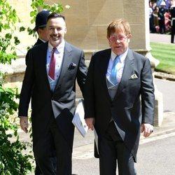 Elton John y David Furnish en la boda del Príncipe Harry y Meghan Markle