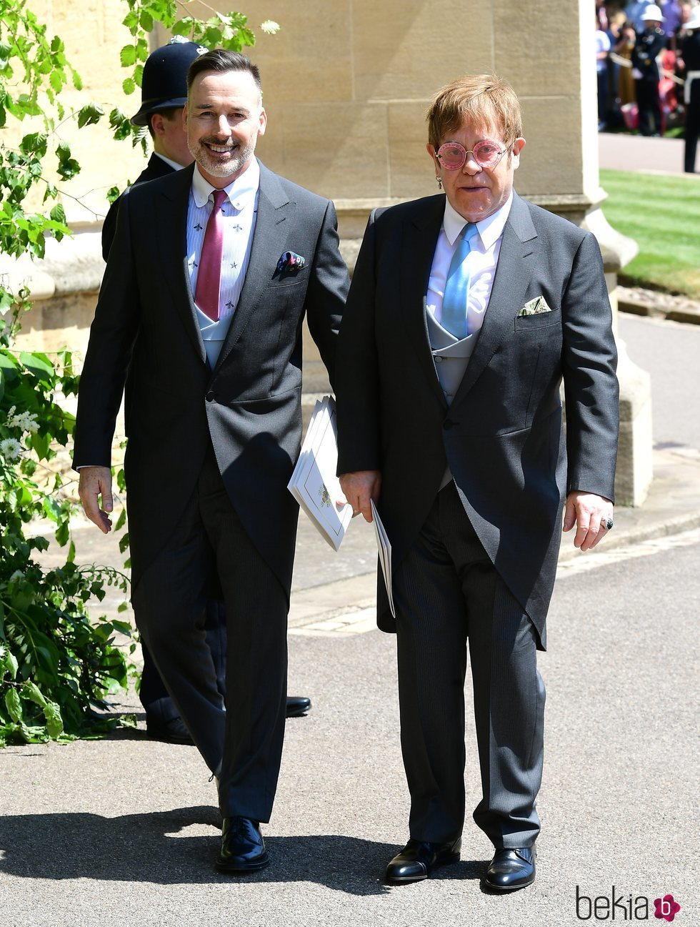 Elton John y David Furnish en la boda del Príncipe Harry y Meghan Markle