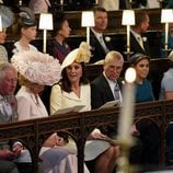 Diversos miembros de la Familia Real Británica durante la boda del Príncipe Harry y Meghan Markle
