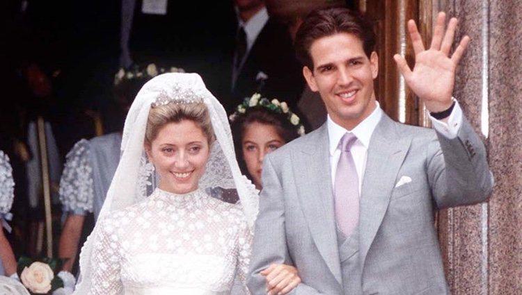 Pablo de Grecia y Marie Chantal Miller en su boda
