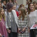La Reina Sofía, muy cómplice con la Infanta Sofía junto a la Reina Letizia, la Princesa Leonor, Victoria de Marichalar e Irene Urdangarin