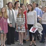 La Princesa Leonor, la Reina Sofía, la Infanta Sofía, la Reina Letizia, Victoria de Marichalar, Irene Urdangarin, Paloma Rocasolano y Cristina de Borbón-Do