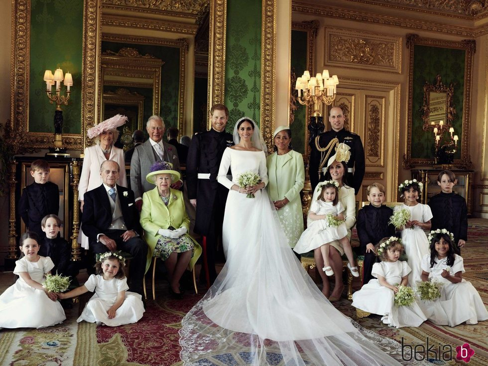 Retrato oficial de la boda del Príncipe Harry con Meghan Markle