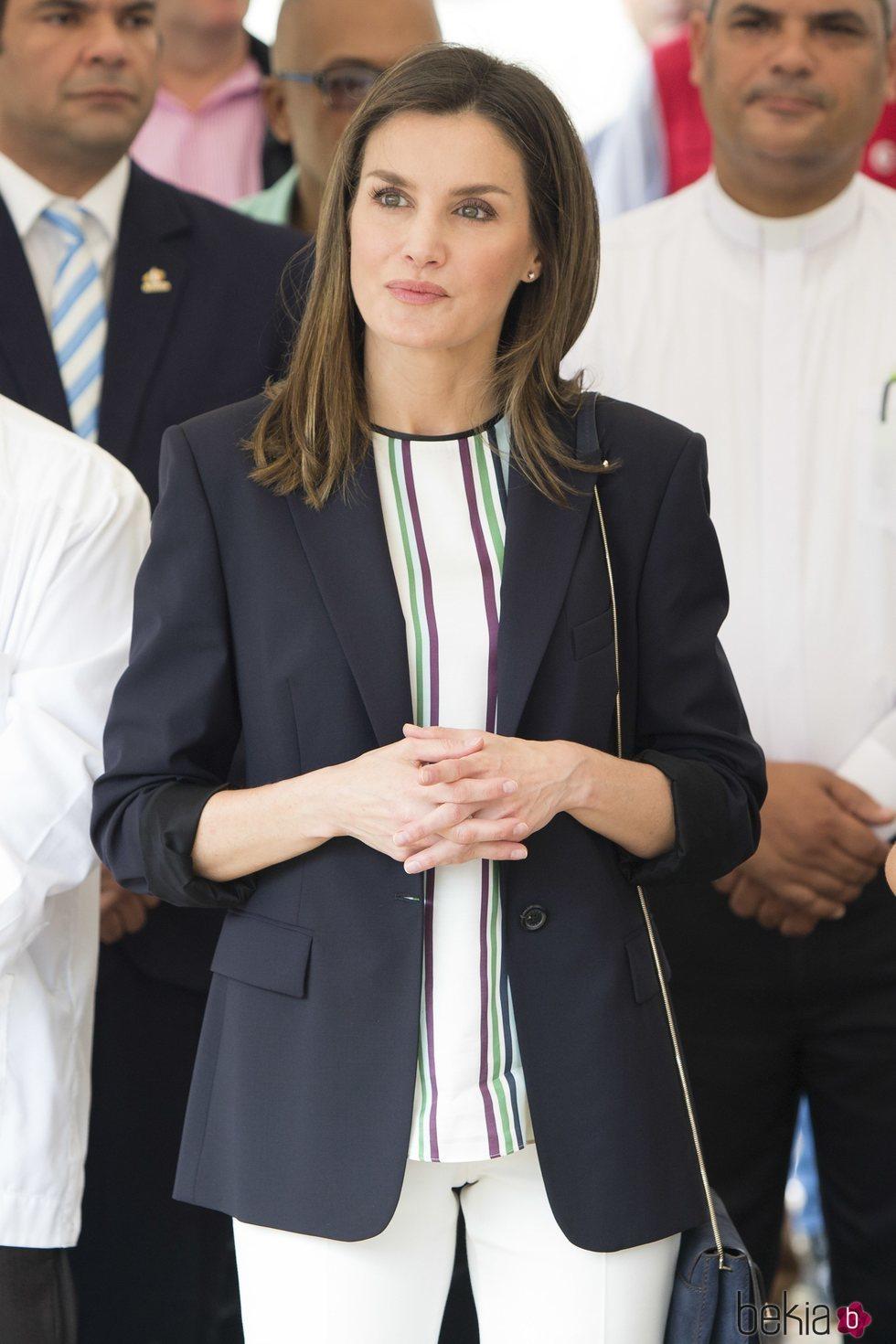 Doña Letizia durante su viaje de cooperación a República Dominicana