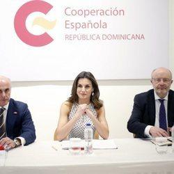 Doña Letizia asiste a una reunión de Cooperación Española en República Dominicana