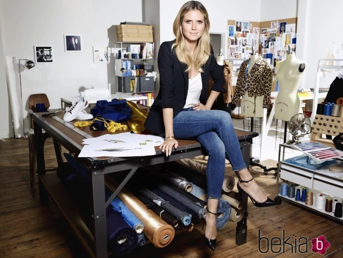 Heidi Klum en la foto promocional de su línea de ropa 'Heidi & The City'