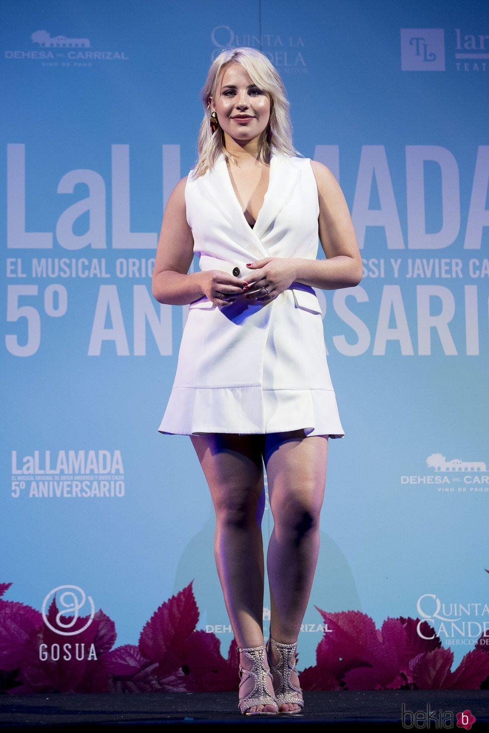 Lucía Gil en la celebración del quinto aniversario de 'La Llamada'
