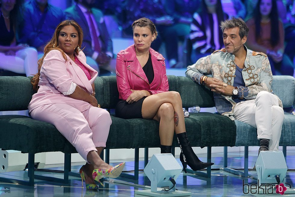 Saray Montoya, María Lapiedra y Fernando Marcos en la gala 11 de 'Supervivientes 2018'