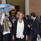 Simoneta Gómez-Acebo en el funeral de Alfonso Moreno de Borbón