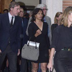 Beltrán Gómez-Acebo y Andrea Pascual en el funeral de Alfonso Moreno de Borbón