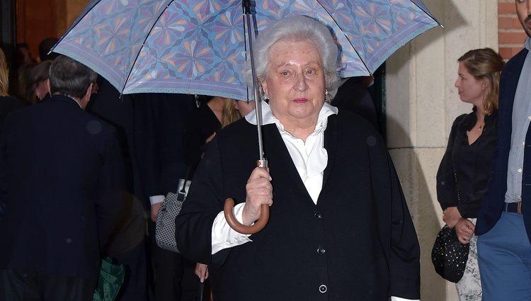 La Infanta Pilar en el funeral de Alfonso Moreno de Borbón