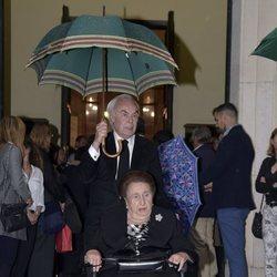 La Infanta Margarita y Carlos Zurita en el funeral de Alfonso Moreno de Borbón