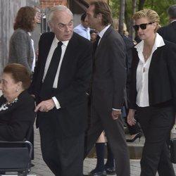 Los Duques de Soria, Alfonso y María Zurita en el funeral de Alfonso Moreno de Borbón