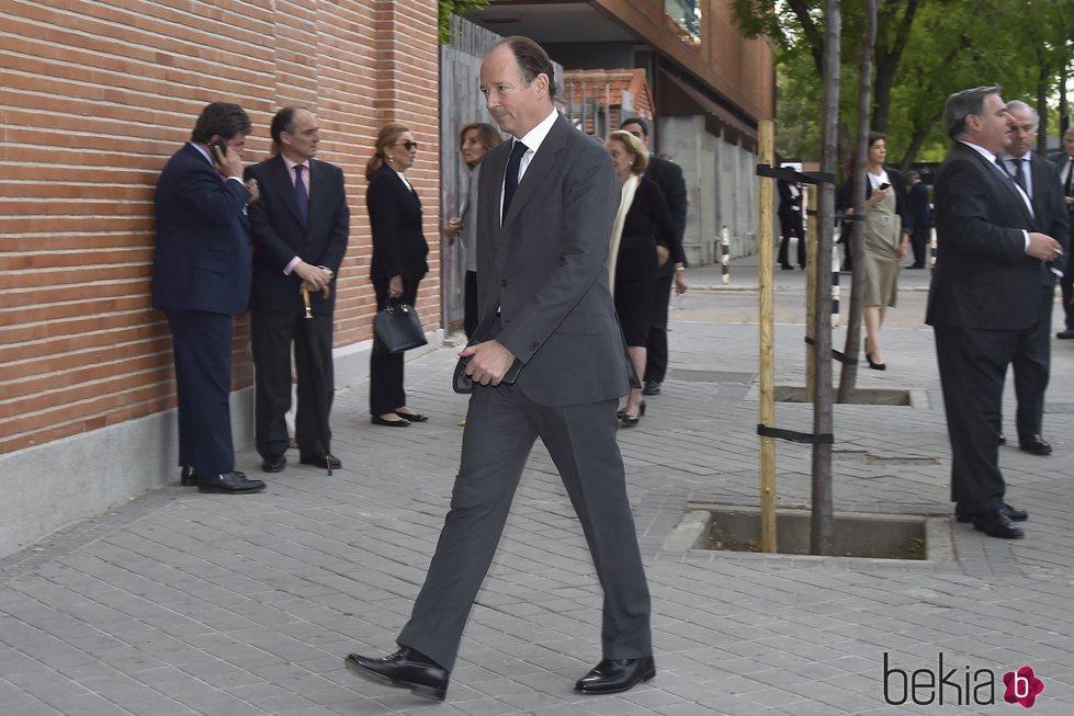 Konstantin de Bulgaria en el funeral de Alfonso Moreno de Borbón