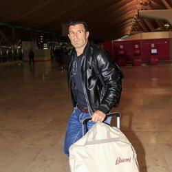 Luis Figo viajando a Kiev