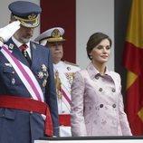 Los Reyes de España presiden el desfile de las Fuerzas Armadas en Logroño