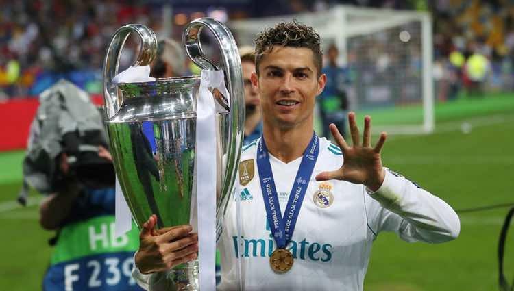 Cristiano Ronaldo celebrando la Champions 2018