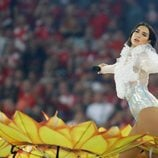 Dua Lipa en la final de la UEFA Champions League 2018