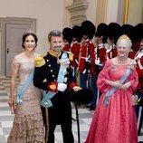 El Príncipe Federico de Dinamarca en la cena de su 50 cumpleaños con la Princesa Mary y la Reina Margarita