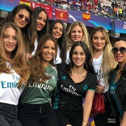 Las WAGs del Real Madrid celebrando la Champions League 2018