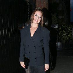 Mel C llegando a la fiesta del 50 cumpleaños de Kylie Minogue