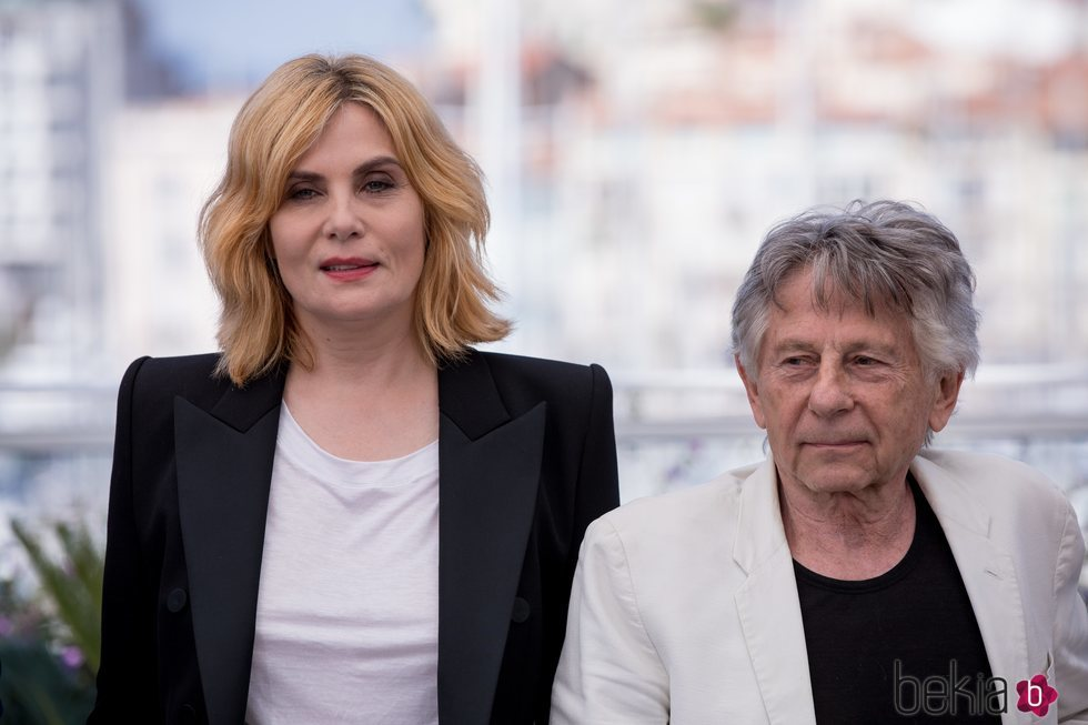 Emmanuelle Seigner y Roman Polanski durante en Festival de Cannes 2018