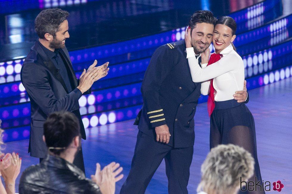David Bustamante y Yana Olina, muy cariñosos en 'Bailando con las estrellas'