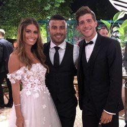 Rafinha Alcantara en la boda de Sergi Roberto y Coral Simanovich