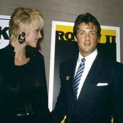 Sylvester Stallone y Brigitte Nielsen en la década de los '80