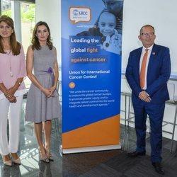 La Reina Letizia con Dina Mired de Jordania en la Union for International Cancer Control