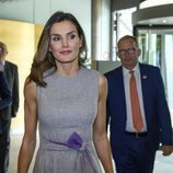 La Reina Letizia visita la sede de la Union for International Cancer Control en Ginebra
