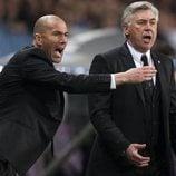 Zidane y Carlo Ancelotti
