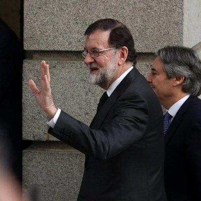 Mariano Rajoy llega al Congreso para la votación de la moción de censura presentada contra él