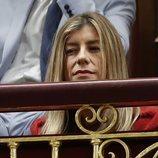 Begoña Gómez en el Congreso viendo cómo era nombrado Pedro Sánchez Presidente del Gobierno