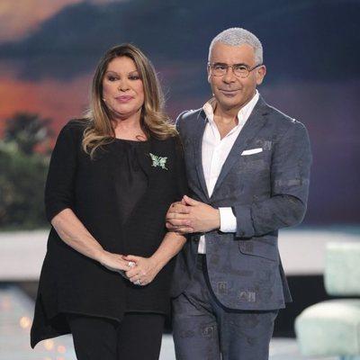 Jorge Javier Vázquez y Paca, la mujer de Francisco, en la gala 12 de 'Supervivientes 2018'