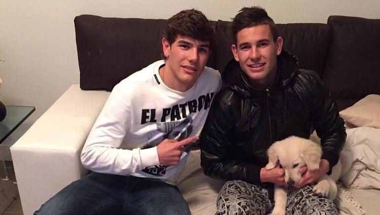 Theo y Lucas Hernández en el cumpleaños del último