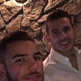 Theo y Lucas Hernández en el 21 cumpleaños del último
