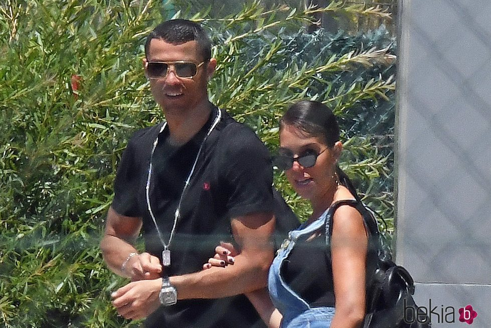 Cristiano Ronaldo y Georgina Rodríguez terminando sus vacaciones en Marbella