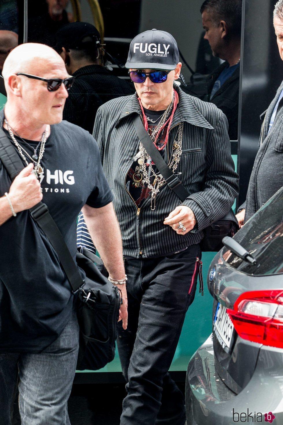 Johnny Depp durante su gira musical en Rusia