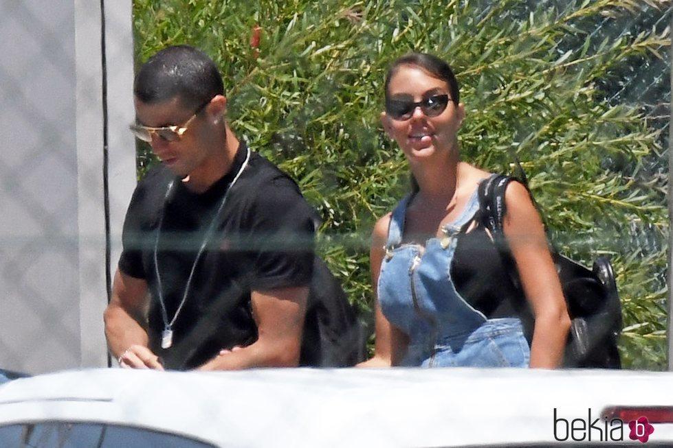 Georgina Rodríguez y Cristiano Ronaldo finalizando sus vacaciones en Marbella