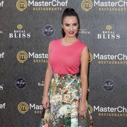Paula Prendes en la inauguración del restaurante de 'MasterChef' en Madrid