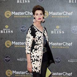 Antonia Dell'Atte en la inauguración del restaurante de 'MasterChef' en Madrid