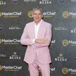 Boris Izaguirre en la inauguración del restaurante de 'MasterChef' en Madrid