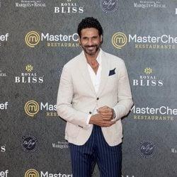 Óscar Higares en la inauguración del restaurante de 'MasterChef' en Madrid