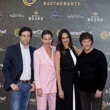 Jordi Cruz, Samantha Vallejo Nágera, Pepe Rodríguez y Eva González en la inauguración del restaurante de 'MasterChef' en Madrid